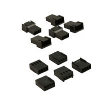 4 Pin Black Fan Connectors 5 Each Male And Female With Crimps